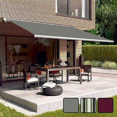 Full Cassette Electric Remote Controlled Retractable Garden Patio
