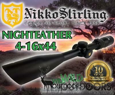 Nikko Stirling - Rifle Scope - Night Eater - 4-16x44 SF - 4Plex/Duplex Reticle