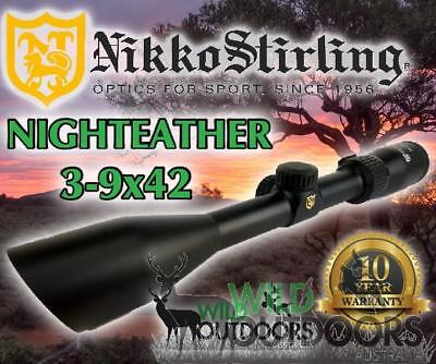 Nikko Stirling - Rifle Scope - Night Eater - 3-9x42 - 4Plex/Duplex