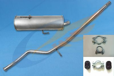 PEUGEOT 206 1.1 1.4 1998-2001 Full exhaust system + mounting kit