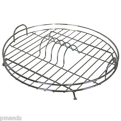 Delfinware Chrome Plated Wire Circular Dish Drainer New Draining Plate Rack