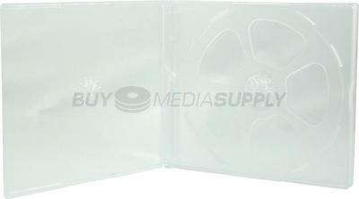 10.4mm Standard Clear Quad 4 Discs CD Jewel Case - 100 Pack
