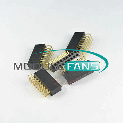 20PCS 2.54mm Pitch 2x8Pin Header Double Row Right Angle Female Socket Connector