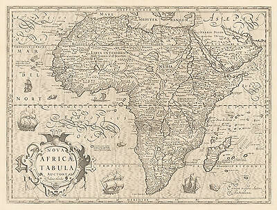 HJB-AntiqueMaps : 1606 Africa by Hondius