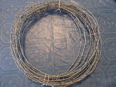 20'  New Roll Barb Wire 4 Point Gaucho Brand 18 Gauge  Jewelry-Crafts-Security