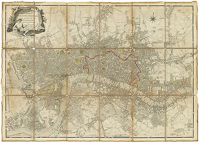 HJB-AntiqueMaps : 1785 Map of London by Faden
