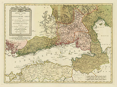 HJB-AntiqueMaps : 1791 Map of the Gulf of Finland by Zoon