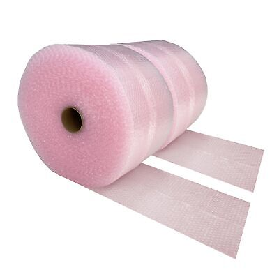 "2 Pink Anti-Static Bubble Rolls 175'x12"" - Small Bubbles 3/16"" Wrap 350' Total"