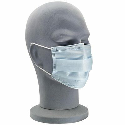 UniProtect 3 Ply Air Procedure Face Mask with Earloops - Blue (Box of 50)