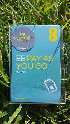 EE £10 Everything Pack Pay As You Go Sim Card - Standard, Micro & Nano Included