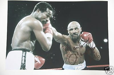 Marvelous Marvin Hagler 20x30cm Foto signed Autogramm /Autograph in Person