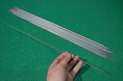 "2mm Dia Titanium 6al-4v round bar .078"" x 20"" Wire Welding grade 5 rod 50pcs"