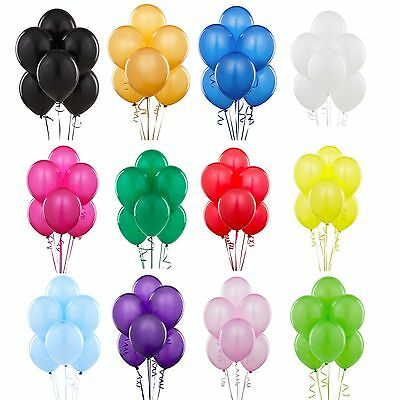 Variation Pack Of 12 Inches Latex Pearlised Balloons Party Wedding Birthday