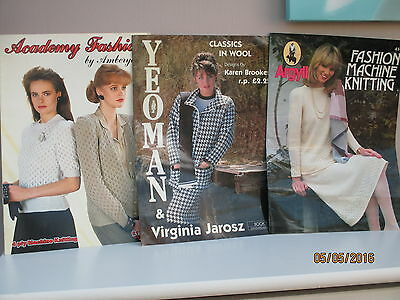 Machine Knitting  Fashion Books  Pack Six