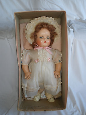 "Vintage 1950's MADAME ALEXANDER LITTLE GENIUS DOLL 20""  Tagged Organdy Dress"