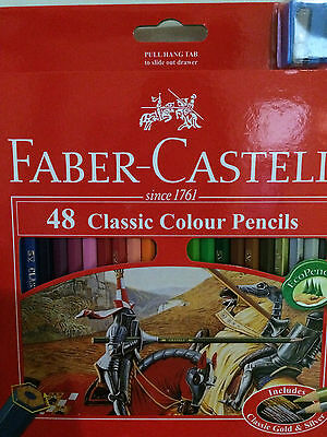 48 FABER CASTELL Classic Colour Pencils Art Colouring Set with Sharpener