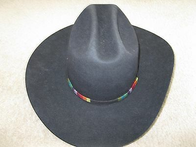 Men s Black Bailey Western Cowboy Hat - Mustang by Bailey - Size 7 3 8 1564449618c0
