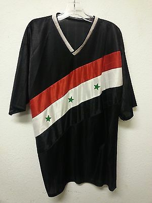 Soccer Jersey with Syrian Flag - Synthetic Material - Size: Large (A2297)