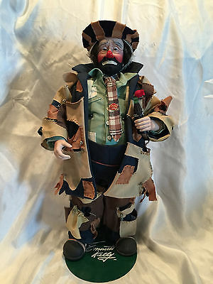 """COLLECTIBLE 100th ANNIVERSARY COCA-COLA EMMETT KELLY """"TO MARKET"""" CLOWN DOLL"""