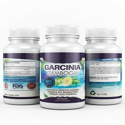 3 x BOTTLES 540 Capsules 3000mg Daily GARCINIA CAMBOGIA HCA 95% Weight Loss Diet