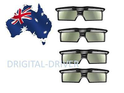 4 Pair New 3D RF Active Glasses for Epson 3LCD Projector Replace ELPGS03 ELPGS03