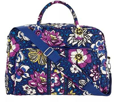 "Vera Bradley Weekender ""African Violet"" Luggage Carryon Duffel Travel Bag NWT"