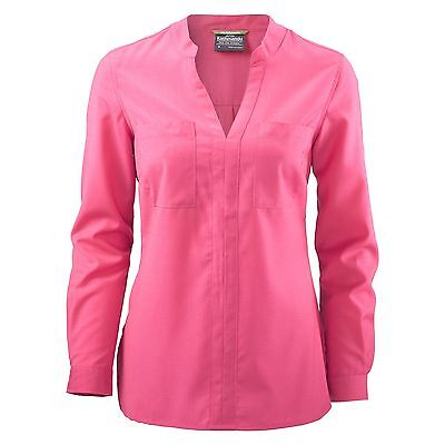 Kathmandu Tomar Womens Merino V Neck Adjustable Long Sleeve Travel Shirt Pink