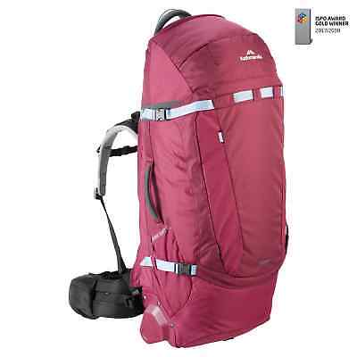 Kathmandu Terrane Adapt Pack womensFIT Trolley Bag Wheels Hybrid Travel Backpack