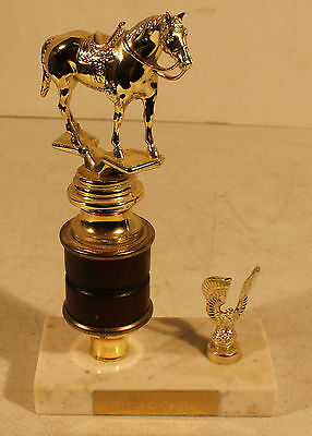 Vintage Therapeutic Horsemanship Horse Racing Equestrian 8 1/4'' In Trophy