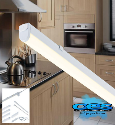 LED Under Cabinet Shelf Lighting Kitchen Strip Lights Cool & Warm White Linkable