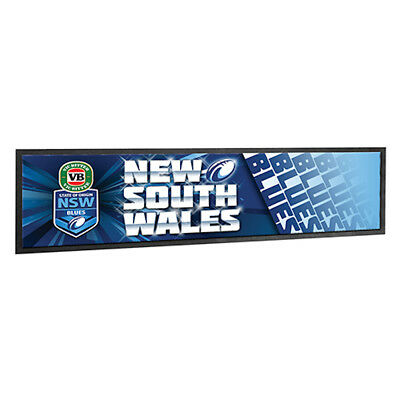 New South Wales State of Origin NRL Rubber Backed Bar Runner