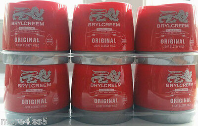 6 x 150ml Brylcreem Original Men's Grooming Light Glossy Hold - Protein Enriched