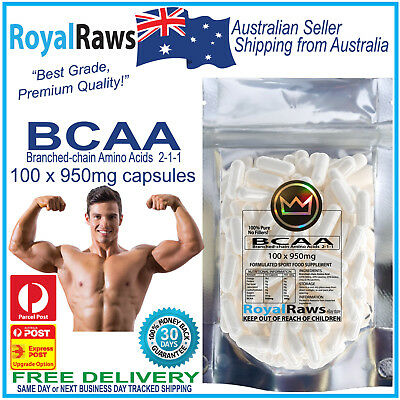 BCAA 100 x 950mg capsules │muscle mass│recovery│energy│branched-chain amino acid