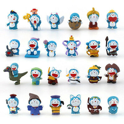 Mini 24PCS PVC Figures New Doraemon Doll Collection Display Toy Gift