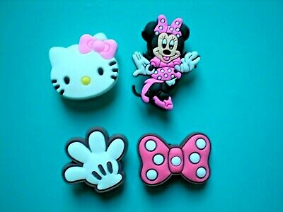 Clog Shoe Charm Button Plug Holey Accessories Sandal Kitty Minnie Mouse Bow
