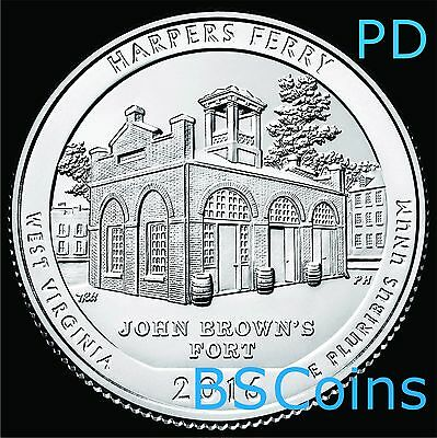 2016 P D ATB Quarters - Harpers Ferry, WV - BU TWO Coin set - Ship TODAY!!