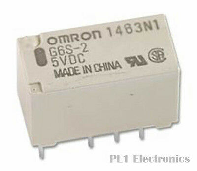 OMRON ELECTRONIC COMPONENTS    G6S-2F 5DC    Signal Relay, G6S Series, Non Latch