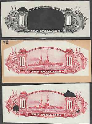 CANADA ROYAL BANK OF CANADA (3) DIFF. $10 PROOFS; UNLISTED ABNCo. XF-AU WLM780