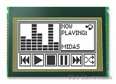MIDAS    MCCOG240160C6W-FPTLW    Graphic LCD Display, White, FSTN, Transflective