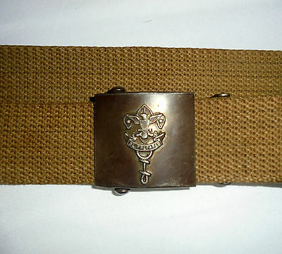 Authentic Antique Museum Quality Boy Scouts of America Small Web Belt & Buckle