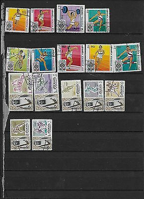A Topical Collection of Fujeira( UAE) Sports Stamps (lot 6)