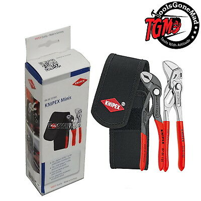 Knipex 002072V01 Minis Combo 8701125 Cobra Pliers 8603150 Wrench Inc Belt Pouch