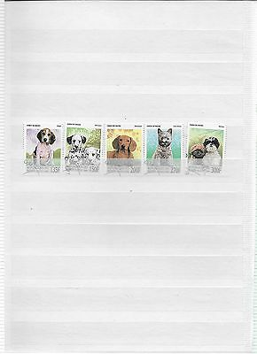 1998 set of 5 Dogs Stamps from Benin (lot 1)