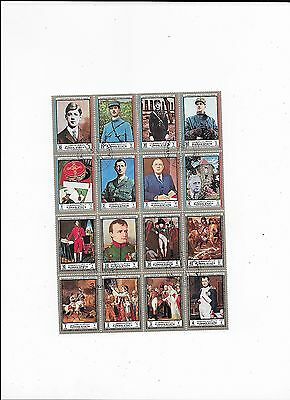 Ajman (UAE) Sheet of Topical Stamps of  Famous People (lot 1)