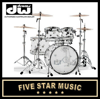 Dw Drums Design Series Acrylic 5-Piece Shell Pack - New