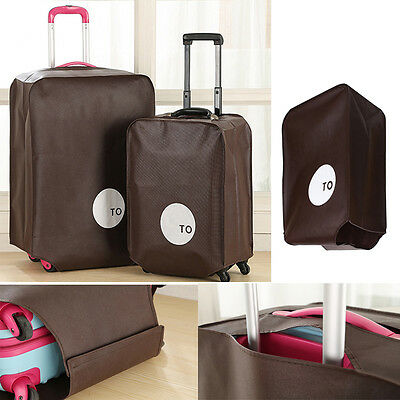 """28"""" Coffee Travel Luggage Suitcase Protective Cover Dust Proof Non-Woven Pouch"""