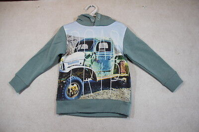 Boy Size 3,4,5,6,7 Milky Winter Green Hoodie Jumper With Graphics NWT