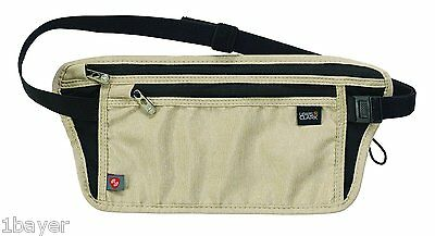 Lewis N. Clark RFID Luxe Travel Wallet Bag Petticoat Waist Stash Tan