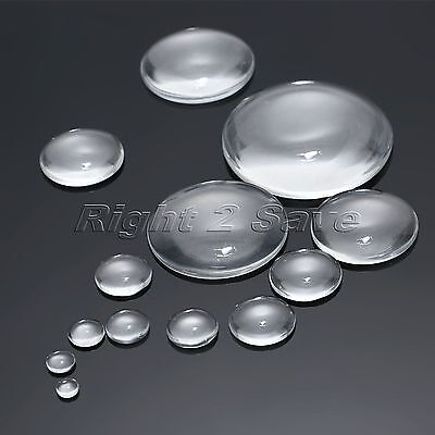 6-50mm Clear Round Flatback Glass Cabochon Dome Scrapbooking Beads Wholesale
