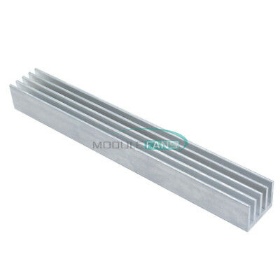 LED 150x19.7x15.6mm Heat Sink Silver-White Aluminum